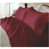 Luxury 1000 TC 100% Egyptian Cotton Queen Sheet Set Solid In Burgundy