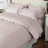 Luxury 1000TC 100% Egyptian Cotton Duvet Cover - King/Cal King Striped in Rose - Anippe