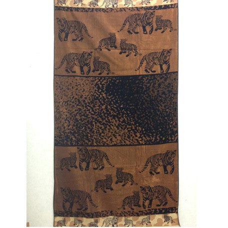Luxury 100% Egyptian Cotton Tiger Beach Towel