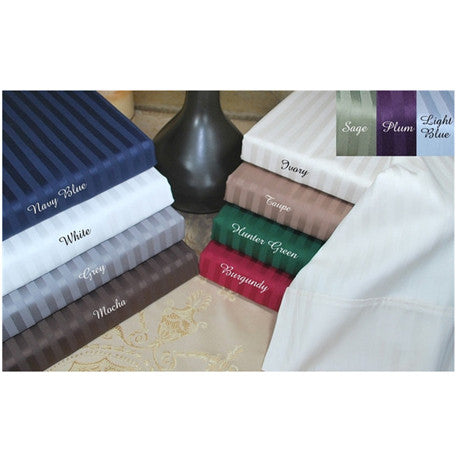 Pure Egyptian Cotton 600 Thread Count Stripe Split King Sheet Sets