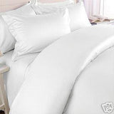Two Luxury 800 TC Queen Size Pillow Cases Solid in White