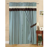 "Luxury Blue 60""x84""  Window Curtain with Lining and 18"" Valance - Anippe"