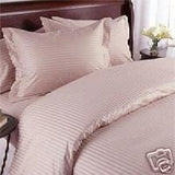 Luxury 1000TC 100% Egyptian Cotton Duvet Cover - Full/Queen Striped in Rose - Anippe