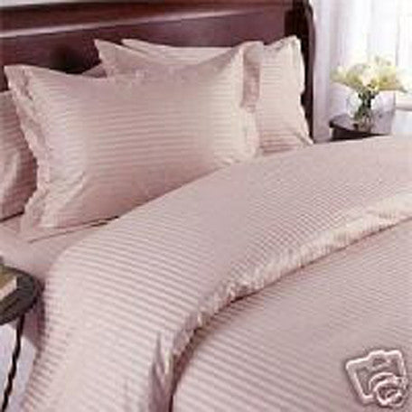 Luxury 1000TC 100% Egyptian Cotton Duvet Cover - Full/Queen Striped in Rose