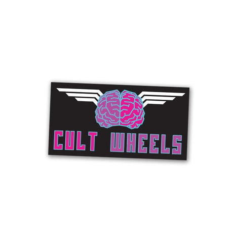 Cult Wheels Brain Sticker 74x40
