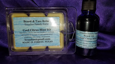 Cool Citrus Mint Set Beard Oil & Beard Balm