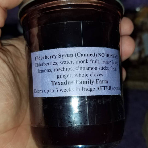Keto-Friendly Elderberry Syrup 8oz