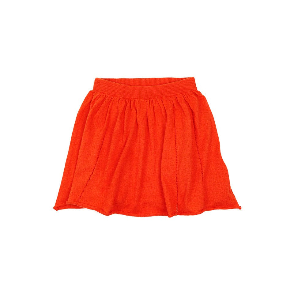 Pom Pom Skirt Red