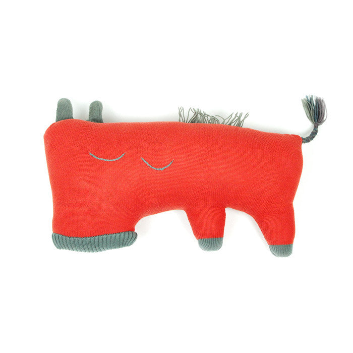 Mr. Donkey Pillow Red