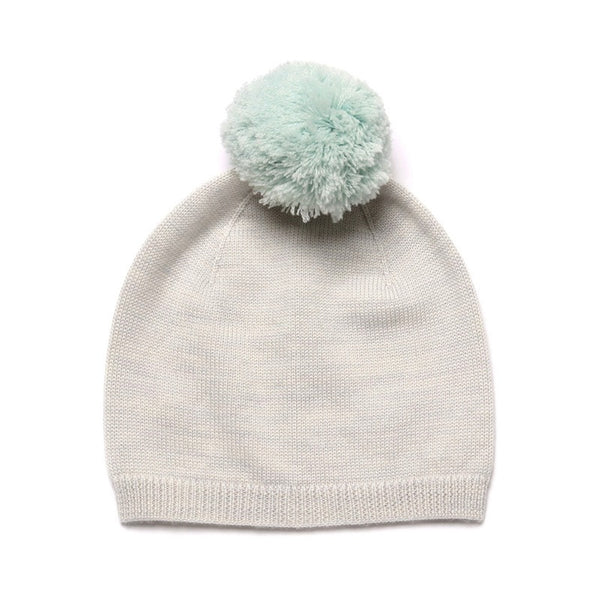 Pom Pom Hat Light Grey