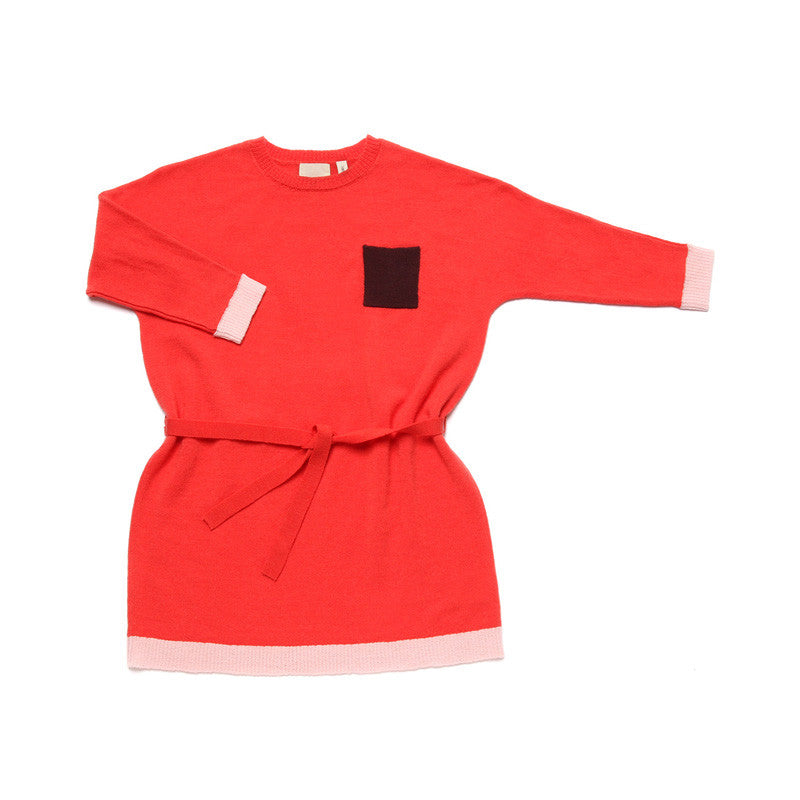Pocket Dress Coral Red