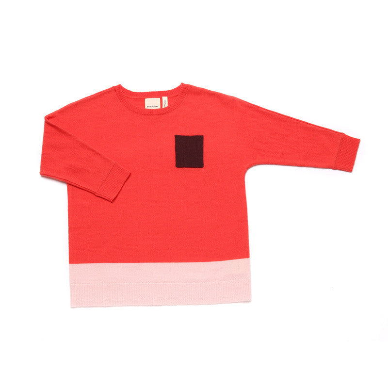 Pocket Long T Coral Red