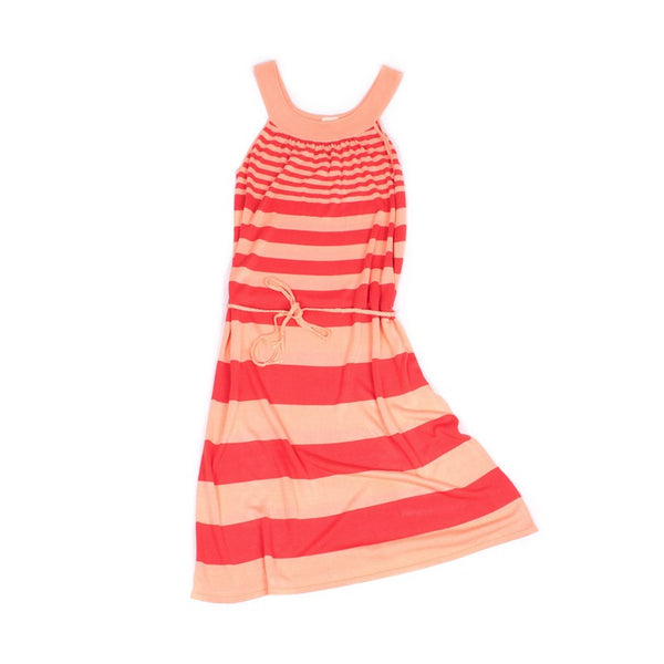 Flowing Tunic Dress Apricot & Coral (Adult)