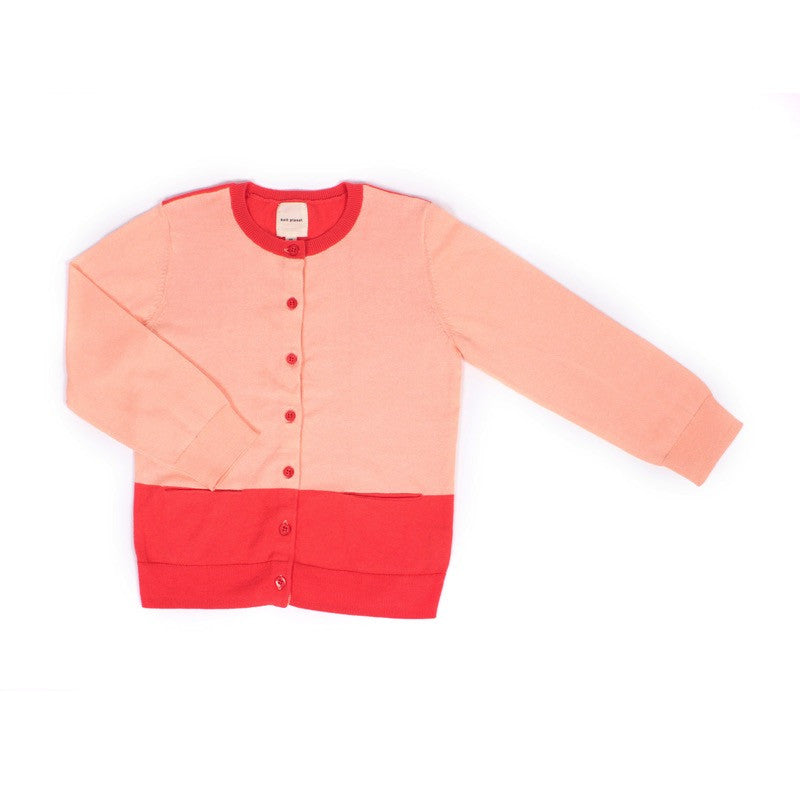 Colour Cardigan Apricot/Coral