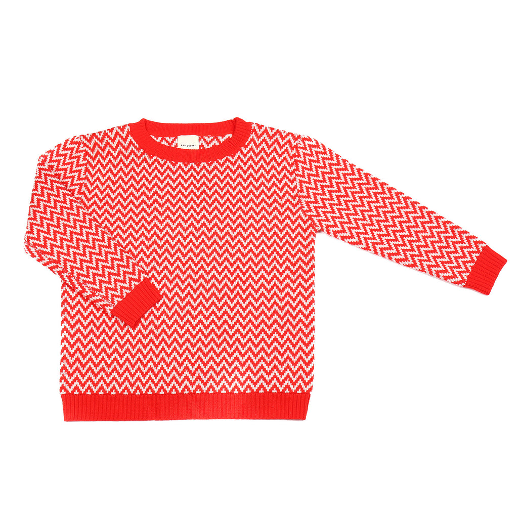 Zigzag Jumper Red