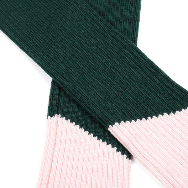 Contrast Leg/Arm Warmer Green/ Pink
