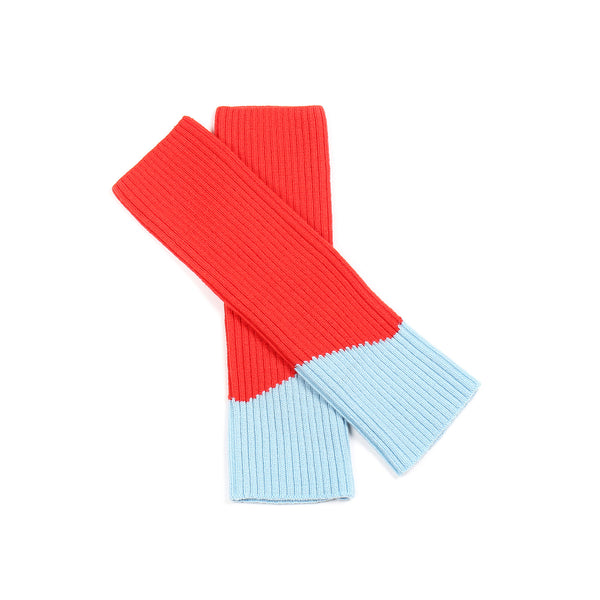Contrast Leg/Arm Warmer Red/ Aqua
