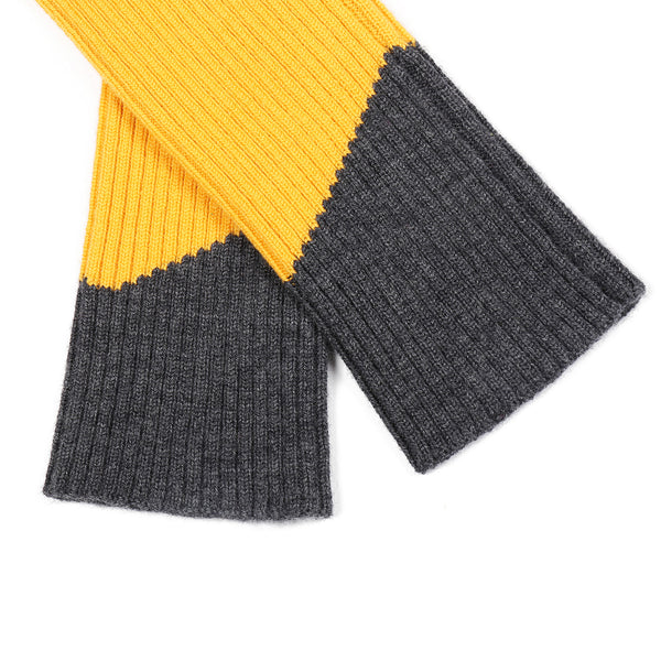 Contrast Leg/Arm Warmer Yellow/ Dark Grey