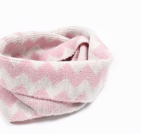 Zigzag Snood Pink