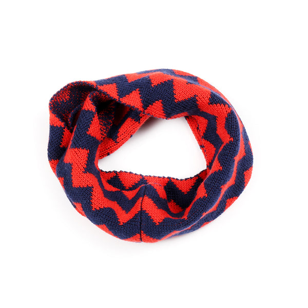 Zigzag Snood Navy