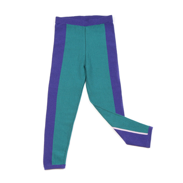 Stripe Leggings Teal/Indigo
