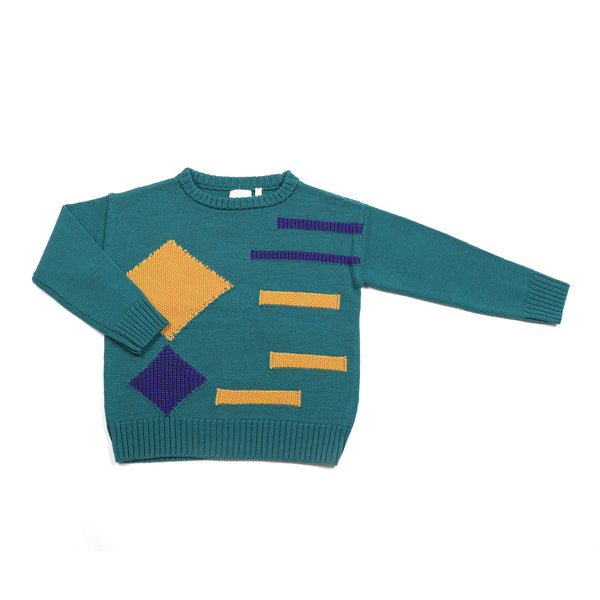 Graphic Jumper Teal