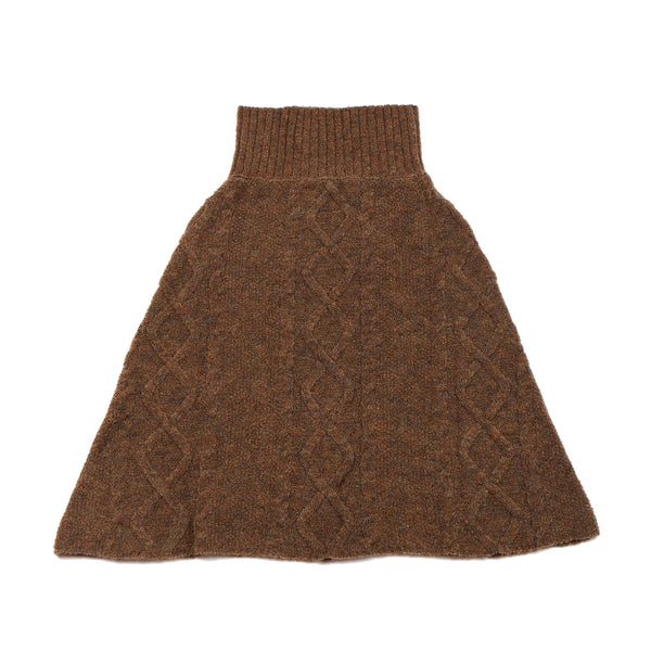 Patterned Skirt / Poncho Brown