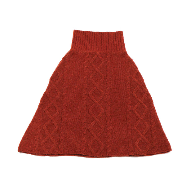 Patterned Skirt / Poncho Maroon