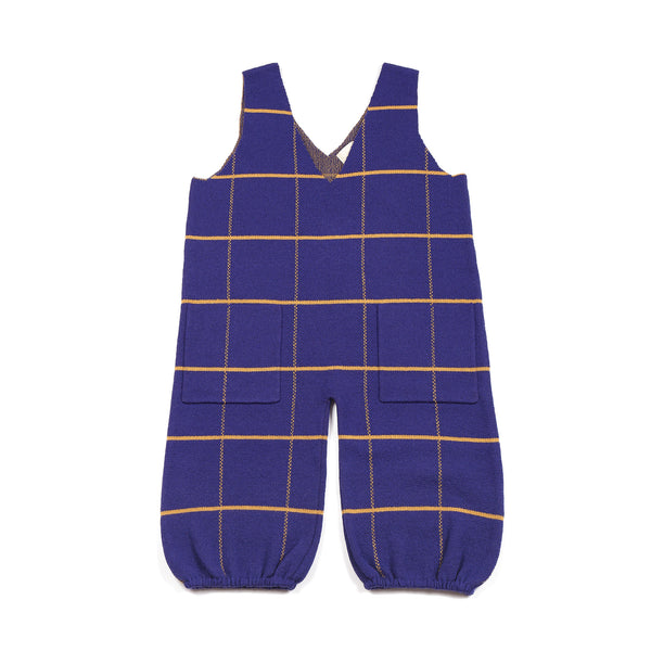 Grid Playsuit Indigo