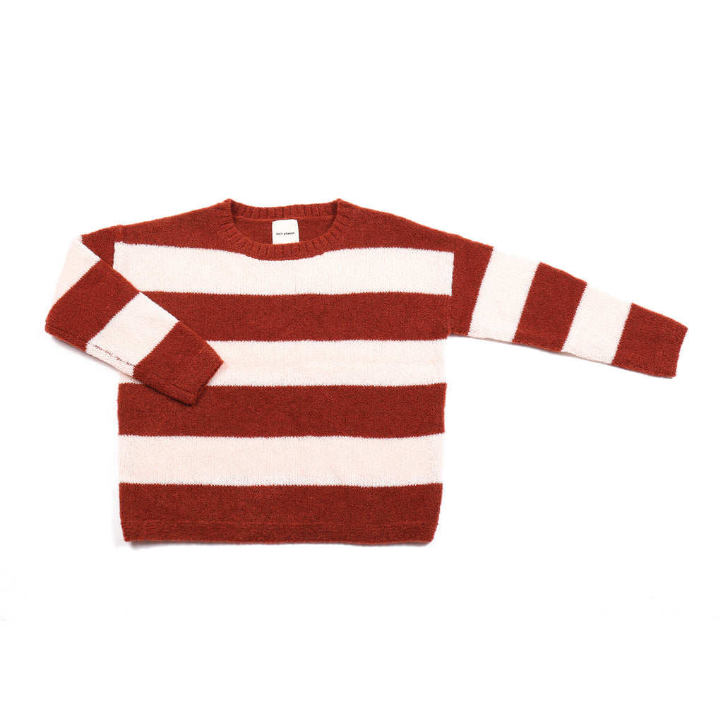Fluffy Jumper Maroon/Rose