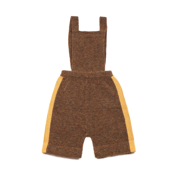 Fluffy Dungaree Brown