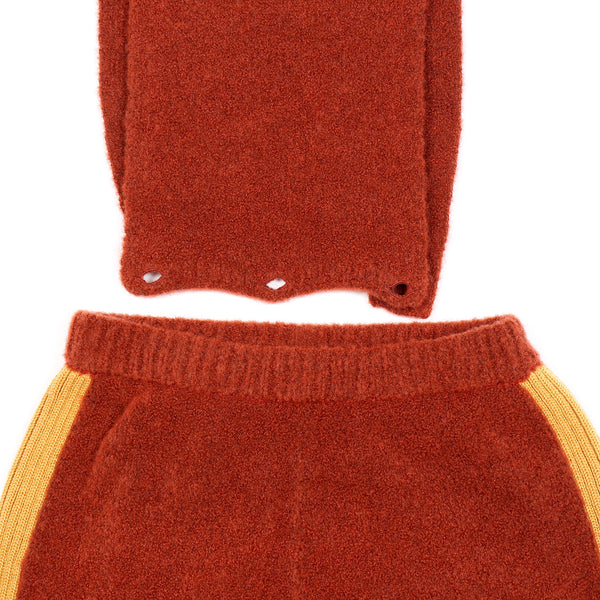 Fluffy Dungaree Maroon