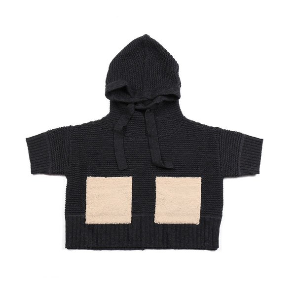 Pocket Poncho Dark Grey