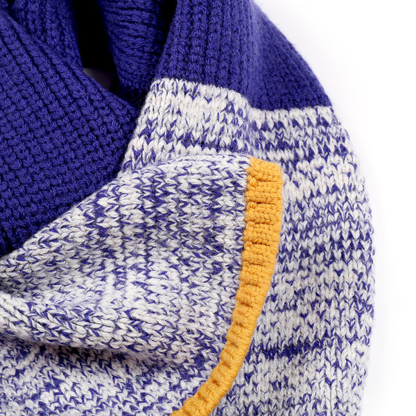 Colour Twisted Scarf Indigo
