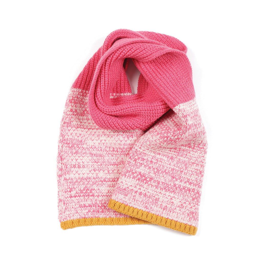 Colour Twisted Scarf Pink