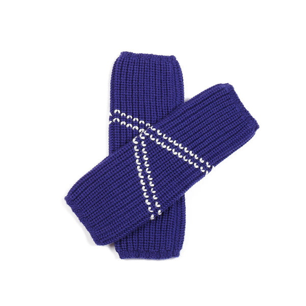 Embroidered Leg/Wrist Warmer Indigo
