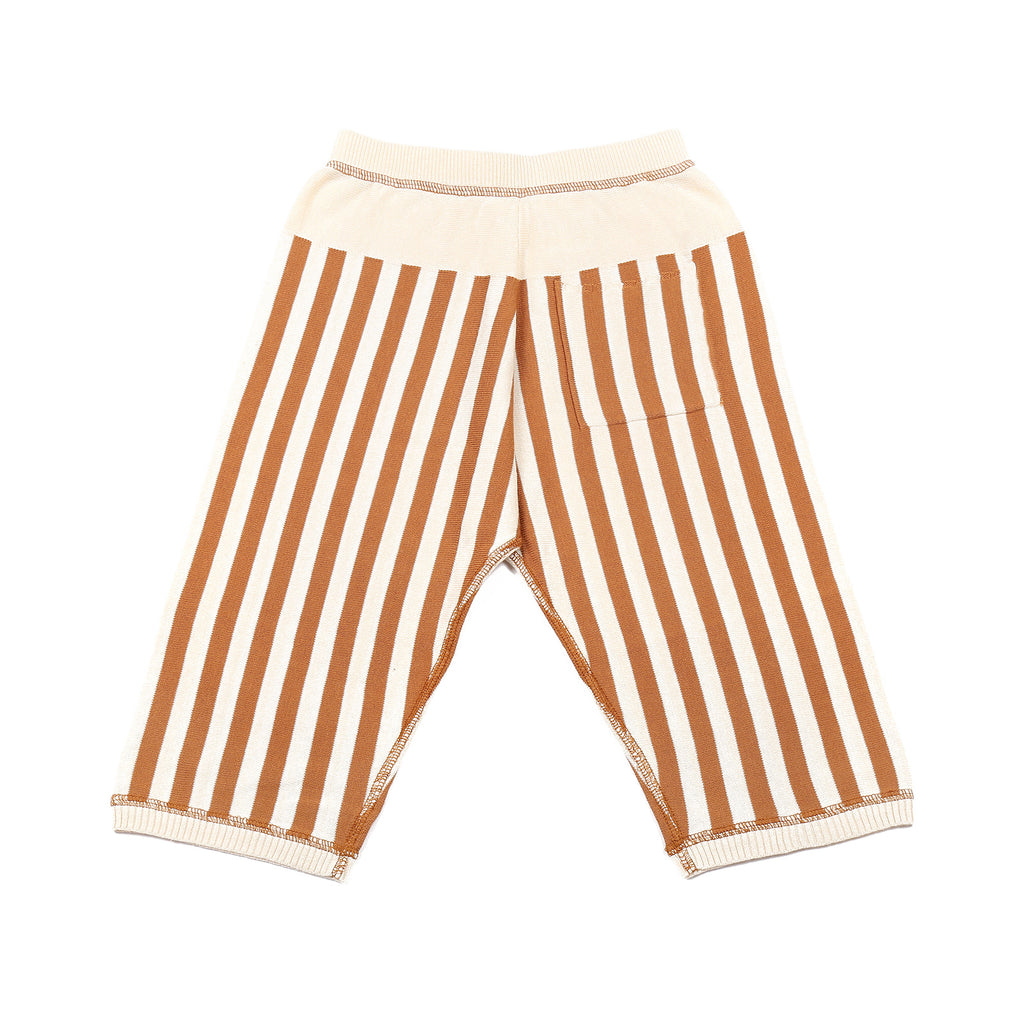 Little Pocket Trousers Ivory/Brown