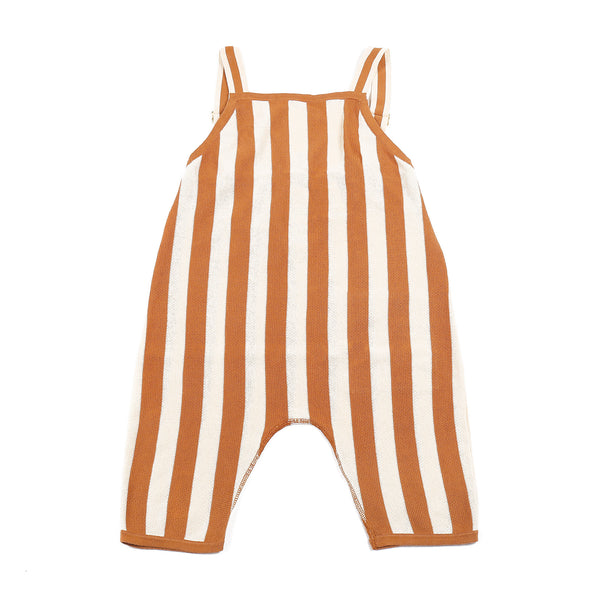 Stripe Playsuit Brown/Ivory