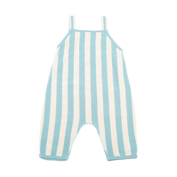Stripe Playsuit Turqouise/Cream