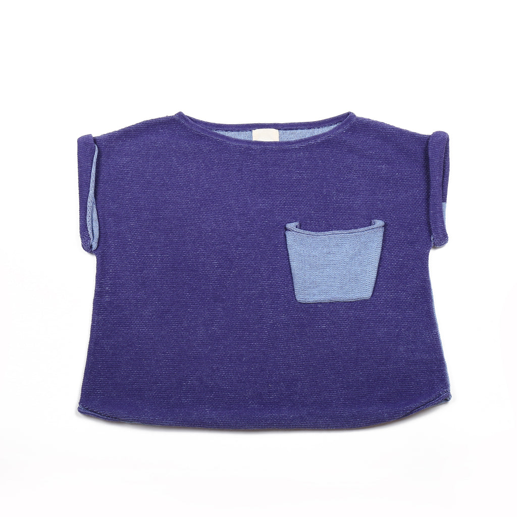 Casual pocket T Indigo