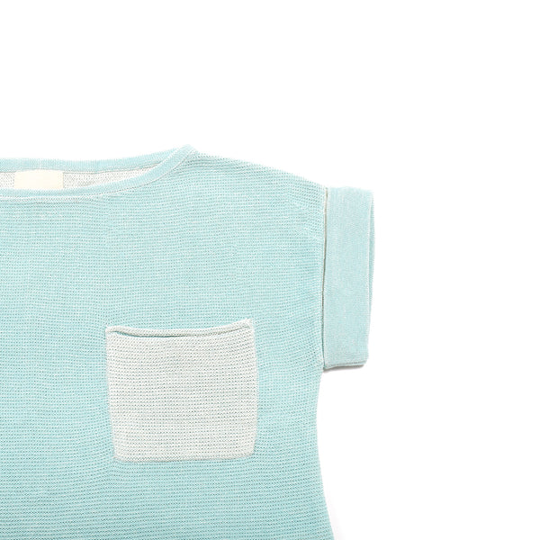 Casual pocket T Turquoise