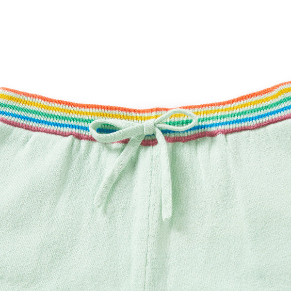 Rainbow Shorts Milky Green