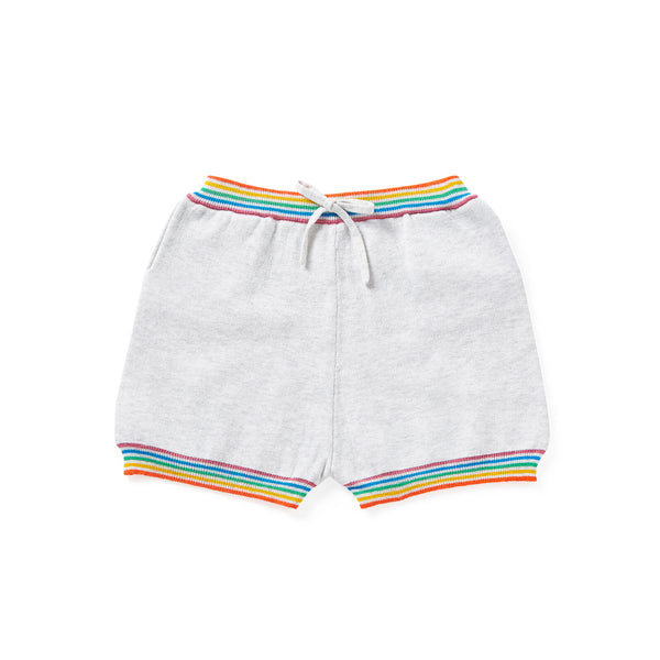 Rainbow Shorts Pale Grey