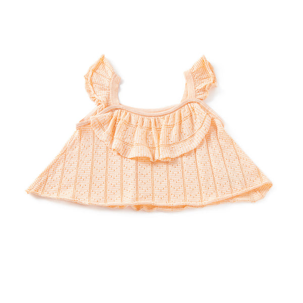 Ripple Crop Top Peach