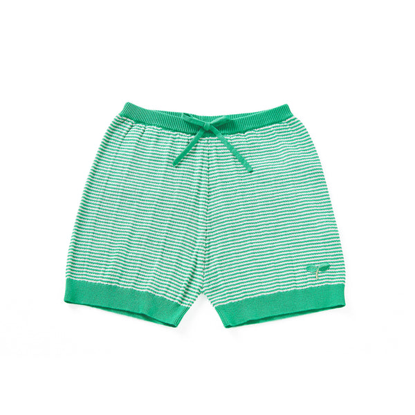 Ribbing Shorts Green
