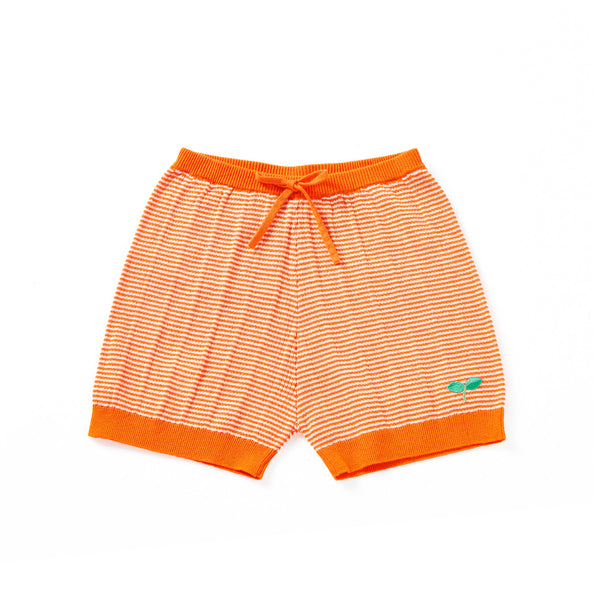 Ribbing Shorts Orange
