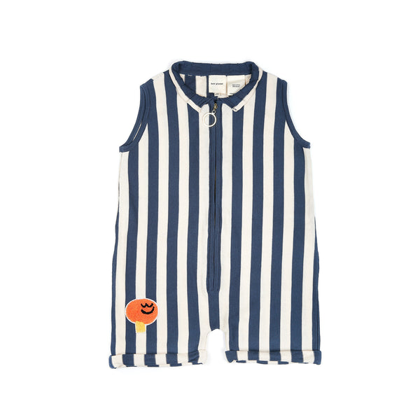 Boxy Playsuit Navy Stripe