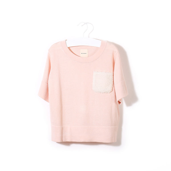 Fluffy Pocket T Pink