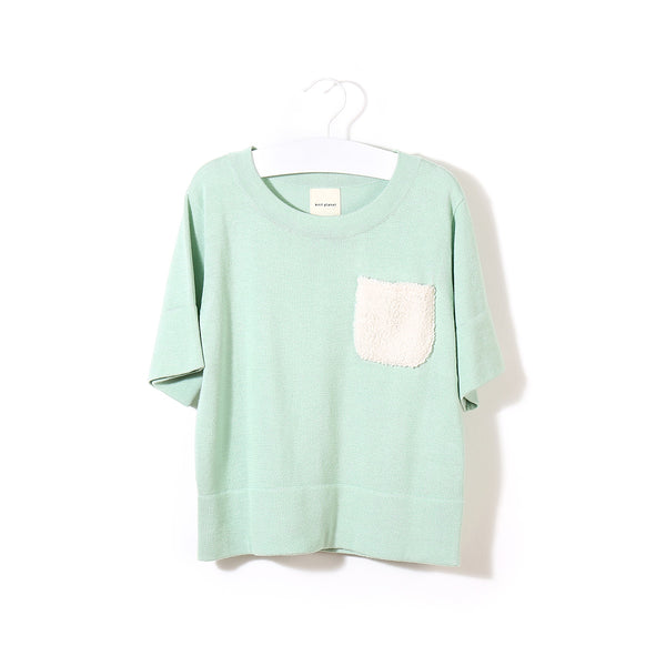 Fluffy Pocket T Mint