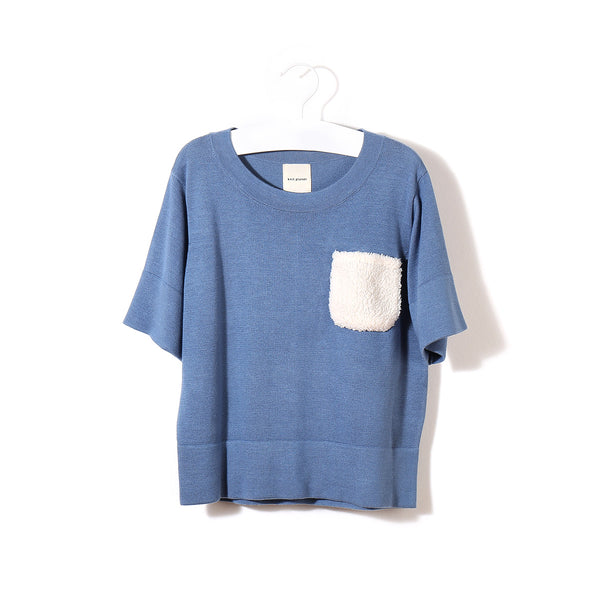 Fluffy Pocket T Slate